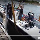 車椅子にて乗船後の下架