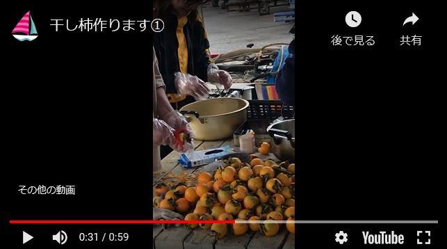 ꙳★*゚干し柿作りに挑戦